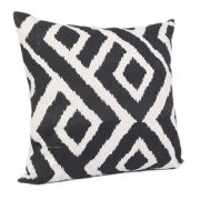 Malini Graphic Print Cushion - Black/White