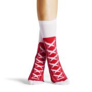 Silly Socks Baseball Boots - Red