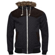 Brave Soul Men's Rainforest Padded Jacket - Black