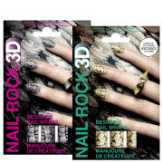 Rock Cosmetics Nail Rock Nail Wrap Duo-Glister Gold and Glister Mix