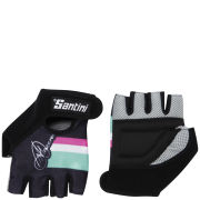 Santini Women's Anna Meares Tour Down Under Race Gloves - Black
