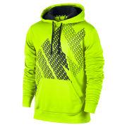 Nike Men's KO Block Logo Hoodie - Volt Green