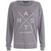 Maison Scotch Women's Print Sweatshirt - Grey