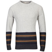 Brave Soul Men's doppler Jumper - Natural