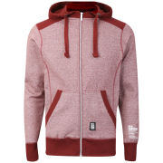 Crosshatch Men's Ipsons Zip Through Hoody - Port