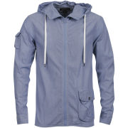 Full Circle Men's Lucenz Hooded Zip Shirt - Blue