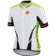 Castelli Climber's Full Zip Jersey - White/Black/Yellow Fluo