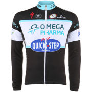 Omega Pharma QuickStep Team Replica Long Sleeve Jersey - Black 2014