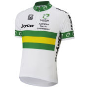 Australian National Team Short Sleeve Jersey 14Cm Zip - White/Green