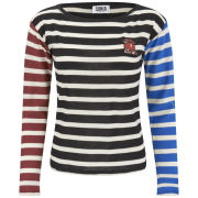 Sonia by Sonia Rykiel Women's Colour Block Striped Jersey Top - Multi