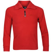 Trespass Boys Lap Half Zip Fleece - Red