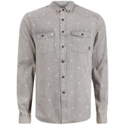 Smith and Jones Men's Librae Shirt - Dark Grey Denim
