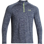 Under Armour Men's Tech 1/4 Zip Top - Academy/High-Vis Yellow