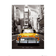 New York Taxi No 1 - 60 x 80cm Print