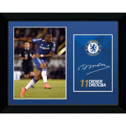 Chelsea Drogba 14/15 - 16x12 Framed Photographic