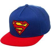 DC Comics Superman Pixelated Logo Snapback Baseball Cap