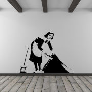 Banksy Cleaner Vinyl Wall Decal