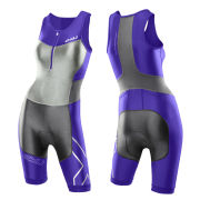 2XU Women's G:2 Compression Trisuit - Purple Hue/Charcoal