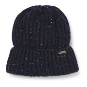 Barbour Tyne Turnback Beanie Hat - Navy Mix