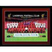 Liverpool Team Photo 14/15 - 16 x 12 Framed Photgraphic
