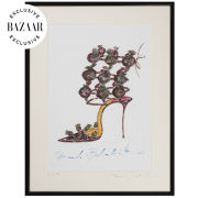 Manolo Blahnik Limited Edition, Signed, Framed Print