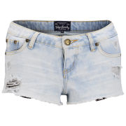 Tokyo Laundry Women's Cara Denim Shorts - Light Vintage