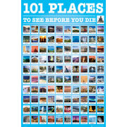 101 Places to See - Maxi Poster - 61 x 91.5cm