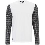 Ashley Marc Hovelle Men's F1 Long Sleeve T-Shirt - White/Black