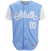 Sik Silk Men's Baseball Shirt - Baby Blue