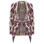 ba&sh Women's Cardinal Heavy Knit Cardigan - Bordeaux