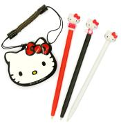 Hello Kitty Touch Stylus Pen Set (3DS, DSi XL, DSi, DS Lite)