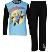 The Simpsons Boys' Swoooop Pyjama Set - Blue/Black