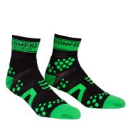 Compressport Pro Racing Socks - Run (HighCut) - Black/Green