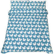 Anorak Kissing Squirrels Duvet Cover - Aqua