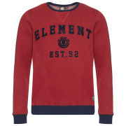 Element Men's Owens Crew Neck Sweatshirt - Crimson Red