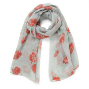 Impulse Women's Floral Scarf - Grey