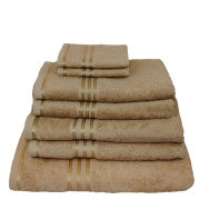Restmor 100% Egyptian Cotton 7 Piece Supreme Towel Bale Set - Latte