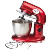 Salter 1000w Stand Mixer - Metallic Red