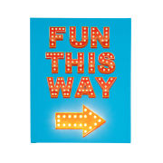 Fun This Way Blue Canvas