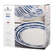 Queens Sieni Inkie Coupe 12 Piece Set Photo Box - White/Blue