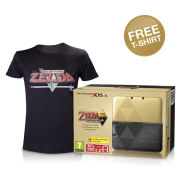 Nintendo 3DS XL The Legend of Zelda: A Link Between Worlds Limited Edition + FREE T-Shirt (Small - Black)