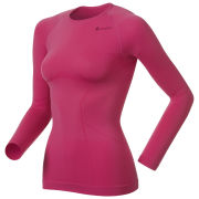 Odlo Women's Evolution Light Long Sleeve Crew Neck Base Layer - Magenta