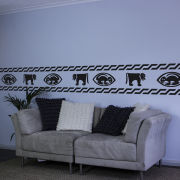 Traditional African Animal Border Vinyl Wall Decal