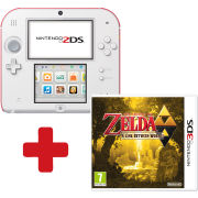 Nintendo 2DS White & Red Console: Bundle includes The Legend of Zelda: A Link Between Worlds
