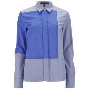 Victoria Beckham Women's Panel Shirt - Blue Oxford
