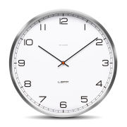 LEFF Amsterdam One 35cm Stainless Steel Wall Clock - White