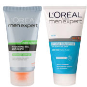 L'Oreal Paris Men Expert Duo- Hydra Sensitive Soothing Wash & Pure & Matte Anti-Shine Gel