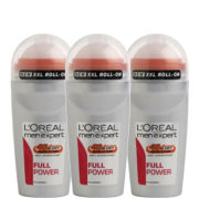 L'Oreal Paris Men Expert Full Power Deodorant Roll-On (50ml) Trio