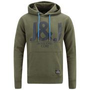 Jack and Jones Men's Elijah Core Hoody - Olive Night