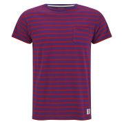 Bedwin & The Heartbreakers Men's Earnie Border T-Shirt - Purple